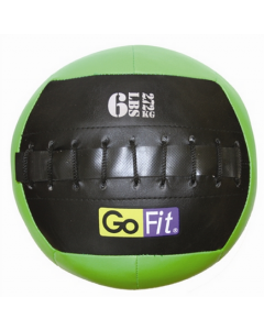 "GoFit 10"" Mini CrossFit-style Wall Ball Vinyl Medicine Ball w/ Manual - 6lbs"