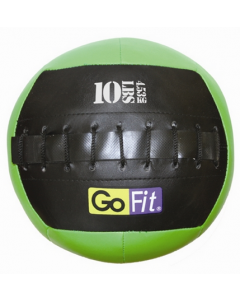 "GoFit 10"" Mini CrossFit-style Wall Ball Vinyl Medicine Ball w/ Manual - 10lbs"