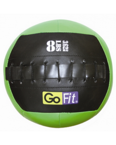 "GoFit 10"" Mini CrossFit-style Wall Ball Vinyl Medicine Ball w/ Manual - 8lbs"