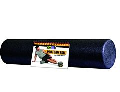 "GoFit 24"" x 6"" Foam Roller with Training Manual - Blue"