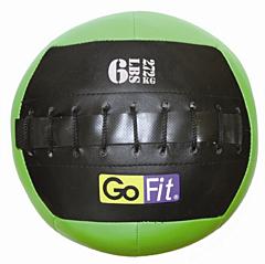 """GoFit 10"""" Mini Wall Ball Vinyl Medicine Ball w/ Manual - 6lbs"""