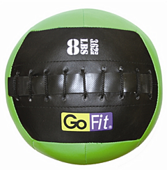 "GoFit 10"" Mini Wall Ball Vinyl Medicine Ball w/ Manual - 8lbs"