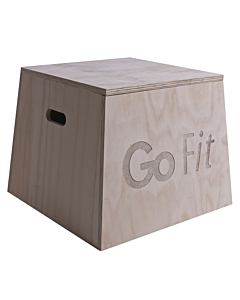 "GoFit Wood Plyobox With Exercise Book - 12"" height"