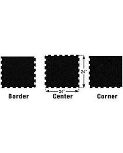 Ecore - Puzzle Tile-10% Gray Fleck (2X2)-Corner tile