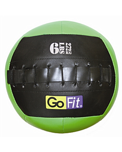 "GoFit 10"" Mini Wall Ball Vinyl Medicine Ball w/ Manual - 6lbs"