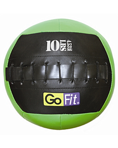 "GoFit 10"" Mini Wall Ball Vinyl Medicine Ball w/ Manual - 10lbs"