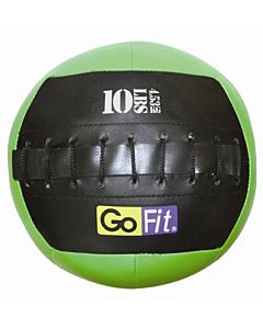 "GoFit 10"" Mini CrossFit-style Wall Ball Vinyl Medicine Ball w/ Manual - 10lbs"