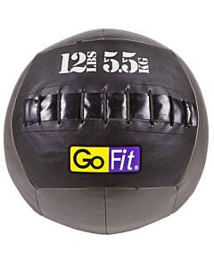 "GoFit 14"" CrossFit-style Wall Ball Vinyl Medicine Ball w/ Manual - 12lbs"