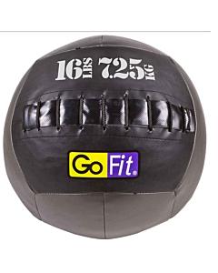 "GoFit 14"" CrossFit-style Wall Ball Vinyl Medicine Ball w/ Manual - 16lbs"