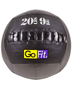 "GoFit 14"" Wall Ball Vinyl Medicine Ball w/ Manual - 20lbs"