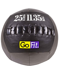 "GoFit 14"" CrossFit-style Wall Ball Vinyl Medicine Ball w/ Manual - 25lbs"