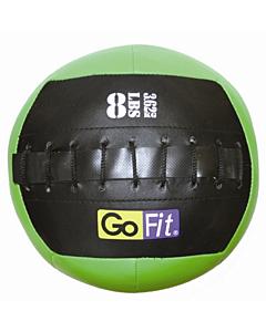 "GoFit 10"" Mini CrossFit-style Wall Ball Vinyl Medicine Ball w/ Manual - 8lbs"