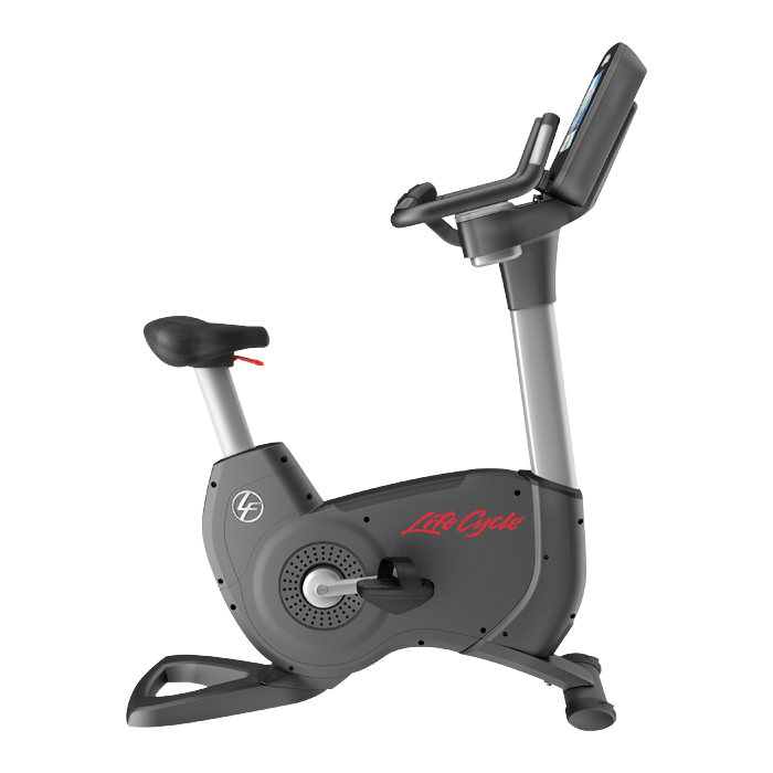 Life Fitness Platinum Club Series Upright Cycle with 10 Discover SI Tablet Console