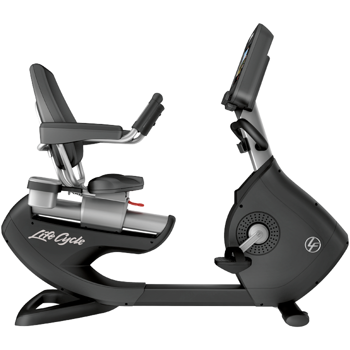 Life Fitness Platinum Club Series Recumbent Cycle with 16 Discover SE3 Tablet Console