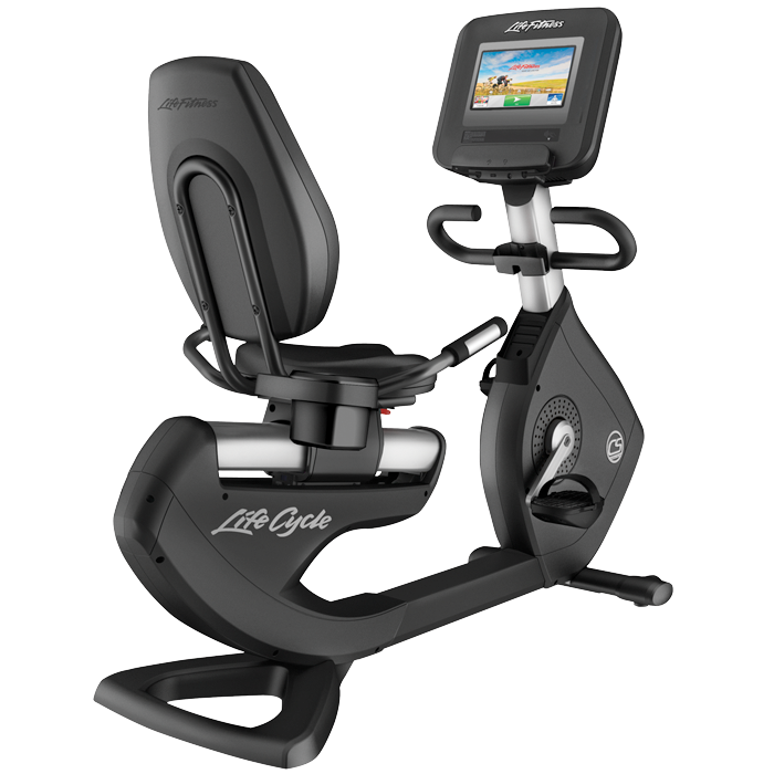 Life Fitness Platinum Club Series Recumbent Cycle with 10 Discover SI Tablet Console