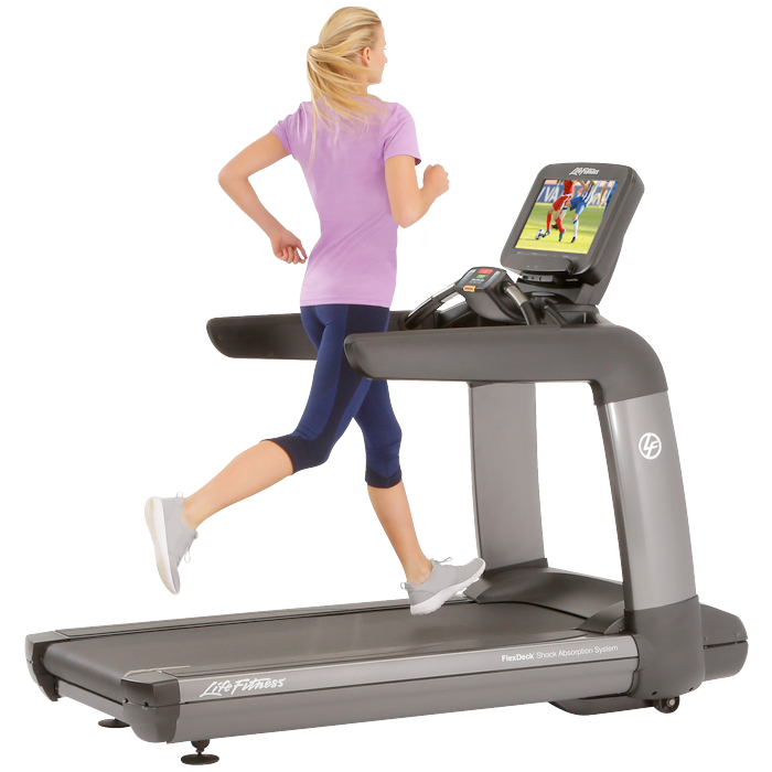 NEW Life Fitness Platinum Club Series Treadmill with 19 in Discover SE3 Tablet Console