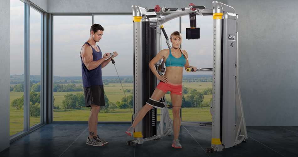 How to start a home gym. Two people exercising on a home gym