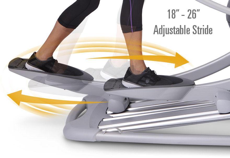adjustable stride elliptical